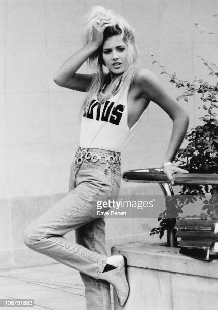 English model and pop singer Mandy Smith September 1986