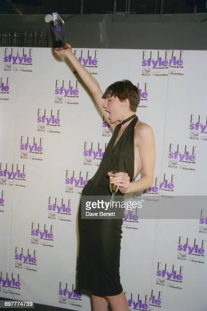 English model Erin O'Connor wins at the Elle Magazine Style Awards at the Home Club London 21st September 1999