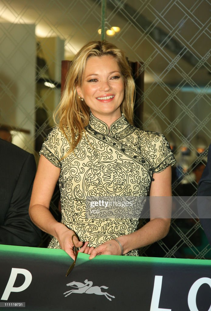 English model Kate Moss attends LongChamp flagship store opening on March 29, 2011 in Hong Kong, China.