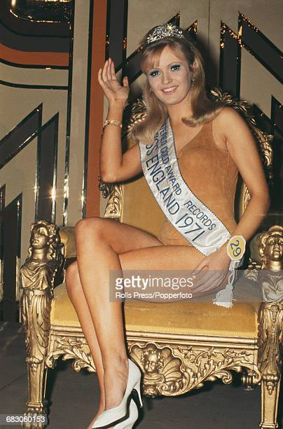 English model Marilyn Ward sits on a throne after being crowned Miss United Kingdom at the beauty pageant in the Lyceum Ballroom, London on 4th April...