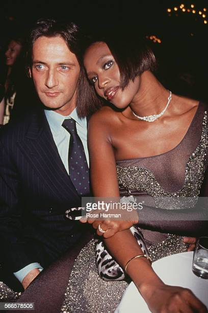 English model Naomi Campbell and Luca Orlandi attend the 13th Annual Night of Stars at the Pierre Hotel New York City circa 1996