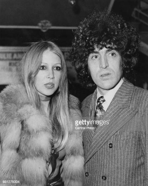 English model Pattie Boyd the wife of George Harrison of the Beatles attends the premiere of the film 'Joanna' at the Rialto Cinema in London...