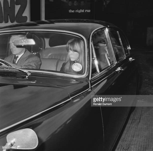 English model Suki Potier leaving inquest on Tara Browne's accident London UK 5th January 1967
