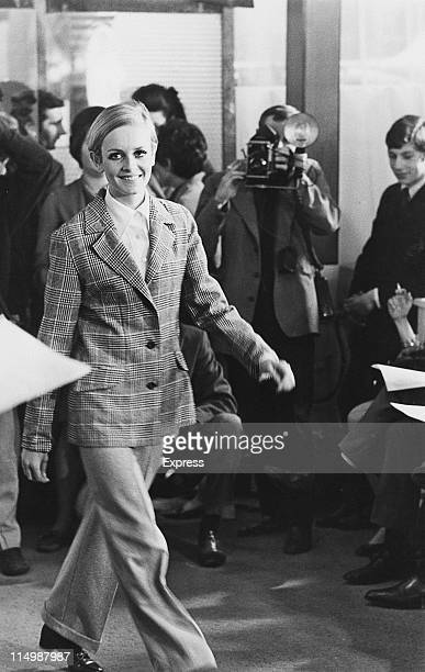 English model Twiggy modelling an outfit from her own range of clothes London 22nd May 1967