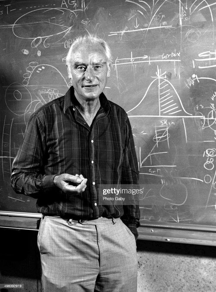 English molecular biologist Francis Crick (1916 - 2004), San Diego, California, 1980.