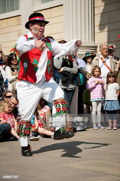 english morris dance - morris dancing stock photos and pictures