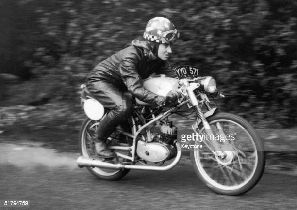 English motorcyclist Beryl Swain in training to become the first woman to compete in the annual TT race 12th May 1962 She is working to gain 14lb so...