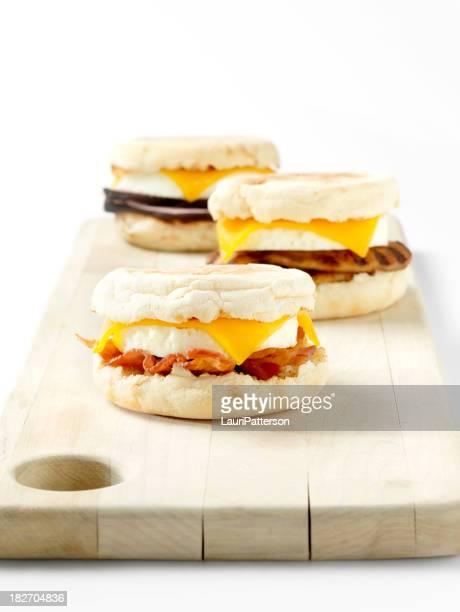 Bollo inglés para el desayuno, sándwiches