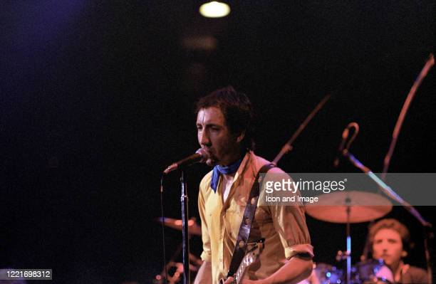 English multi-instrumentalist, singer and primary songwriter for The Who, Pete Townshend, and English drummer Kenney Jones, at Rupp Arena, July 11 in...
