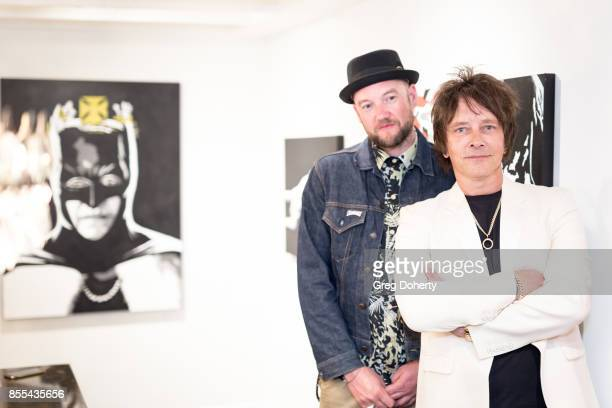 English Multimedia Street Artist D*Face aka Dean Stockton and Artist and Guitar Player Billy Morrison attend the Billy Morrison Aude Somnia Solo...