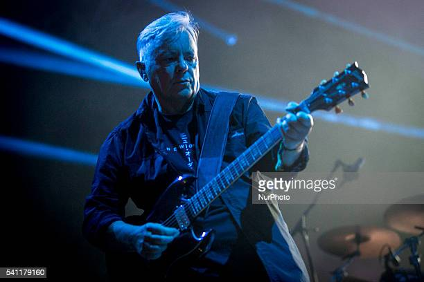 English music band New Order performs during the Sonar Festival 2016 in Barcelona on June 18 2016
