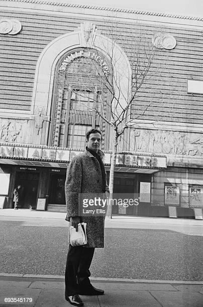 English music entrepreneur Brian Epstein outside the Saville Theatre in London, UK, 1st April 1965. He has recently taken over the lease of the...