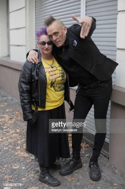 English music journalist John Robb and punk model Jordan portrait Berlin Germany November 3 2018