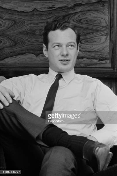 English music manager Brian Epstein , manager of the Beatles and NEMS Enterprises, pictured in his office in Liverpool, England in December 1963.