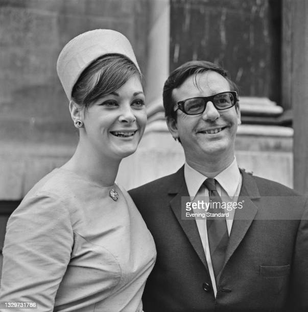 English music manager Michael Jeffery marries Gillian French at Marylebone Register Office in London, UK, 25th June 1965. Jeffery is the manager of...