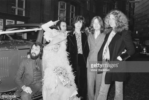 English music manager Richard Cole with his wife former bunny girl Marylin Woolhead celebrating their wedding with British rock band Led Zeppelin and...