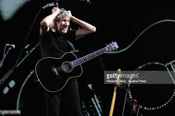 English musician and author Roger Waters performs on stage a concert of his 'Us Them' tour during Lucca Summer Festival at Preto delle Mura on July...