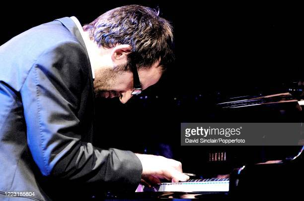 English musician and composer Neil Cowley performs live on stage at the BBC Jazz Awards in London on 12th July 2007