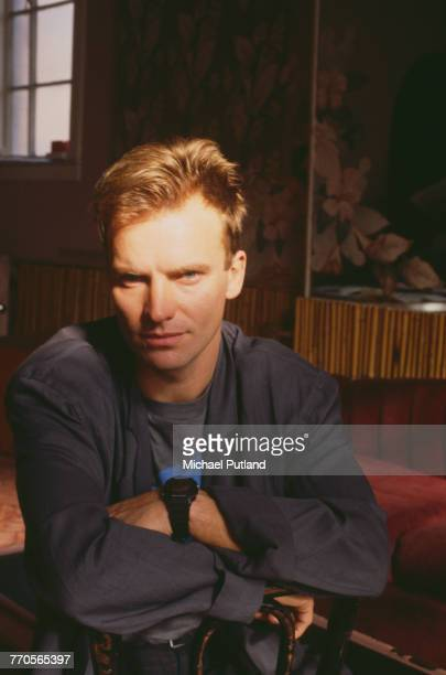 English musician and former lead singer with The Police Sting posed in New York prior to the start of his first solo tour in February 1985