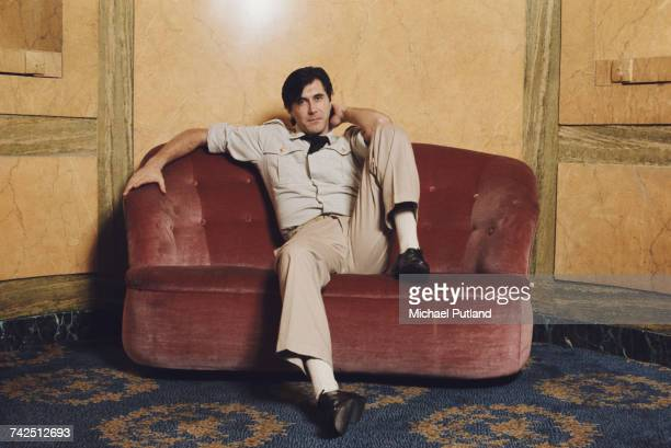 English musician and lead singer of Roxy Music Bryan Ferry pictured in military style costume at the Montcalm Hotel London 31st October 1975 Bryan...