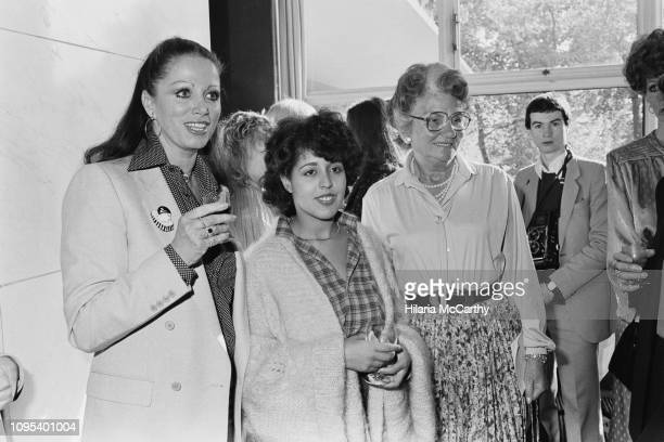 English musician and lead singer of the punk band X-Ray Spex, Poly Styrene with novelist Jackie Collins and conservative campaigner Mary Whitehouse...