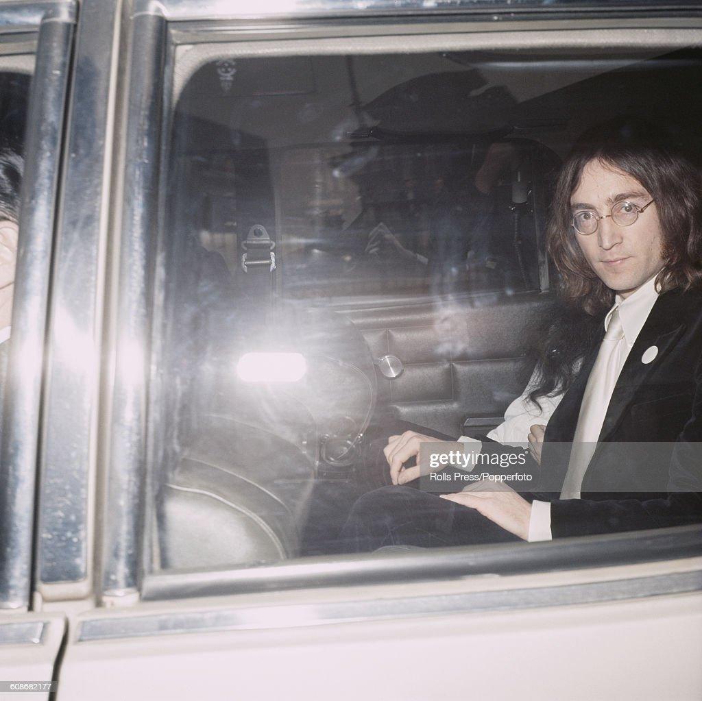 John Lennon Leaves Court : News Photo