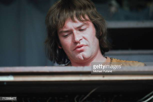 English musician and pianist with Procol Harum Gary Brooker performs live on stage with the band at a festival in United Kingdom circa 1972