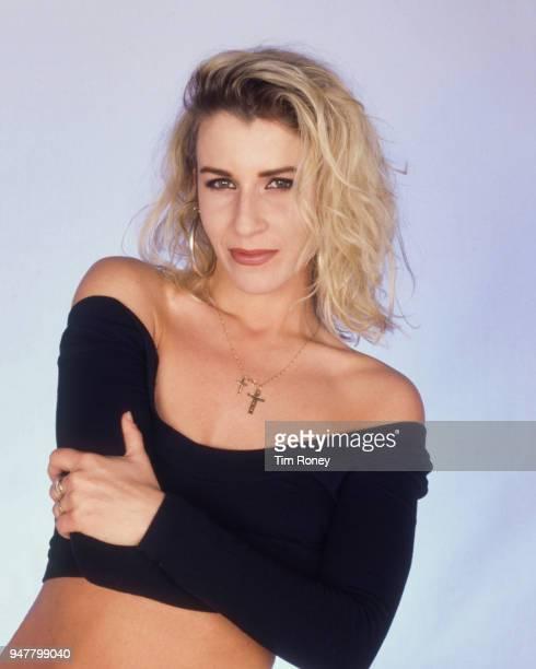 English musician and singer Sara Dallin of pop girl group Bananarama circa 1985