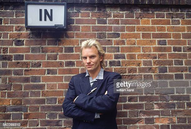 English musician and singer Sting on the set of the 1983 American film Dune