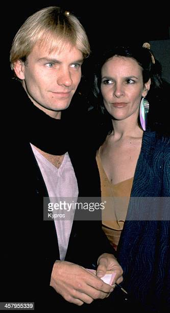 English musician and singer Sting with his first wife Northern Irish actress Frances Tomelty Hollywood California circa 1980