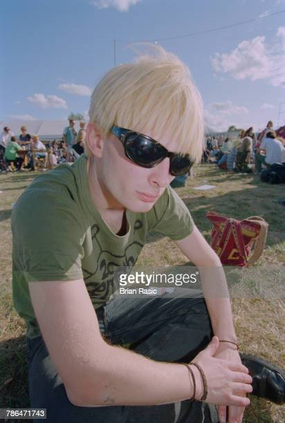 English musician and singer Thom Yorke of rock band Radiohead pictured attending the 1994 Reading Festival in England on 27th August 1994.