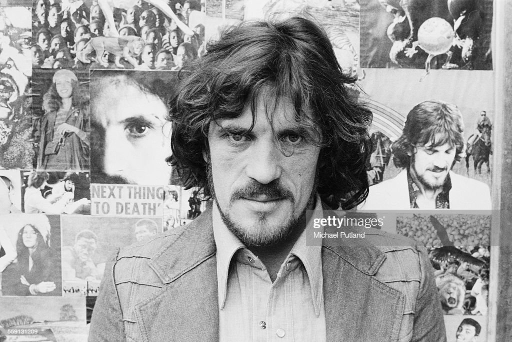 English musician and songwriter Jim Capaldi (1944 - 2005), of rock band Traffic, at his home in Marlow, Buckinghamshire, 23rd October 1975.