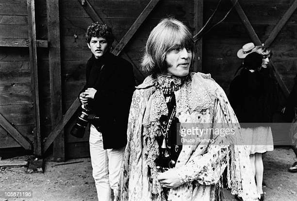 English musician Brian Jones of the Rolling Stones backstage at the Monterey Pop Festival California June 1967