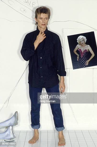 English musician David Bowie is photographed for Self Assignment on January 15 1987 in Los Angeles California