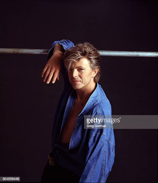 English musician David Bowie is photographed in 2000 in Los Angeles California
