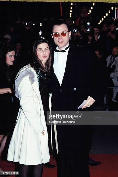 English musician Gary Kemp of Spandau Ballet and his wife Sadie Frost in 1990 ca in London England
