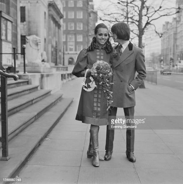 English musician Ian McLagan of the rock band Small Faces marries Sandy Sarjeant, a dancer on the television show 'Ready Steady Go!' at Marylebone...
