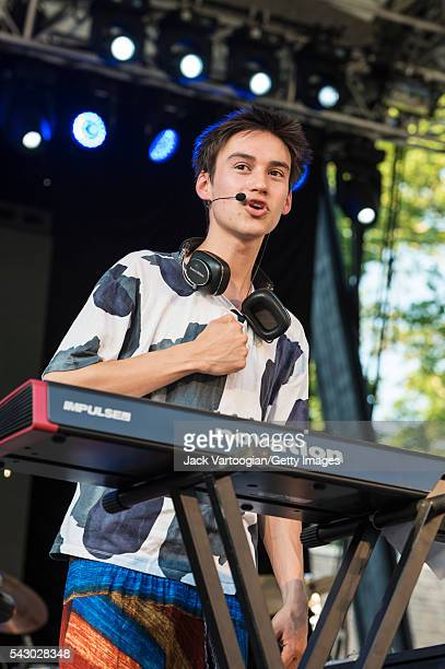 English musician Jacob Collier performs a solo set during the Blue Note Jazz Festival at Central Park SummerStage New York New York June 18 2016