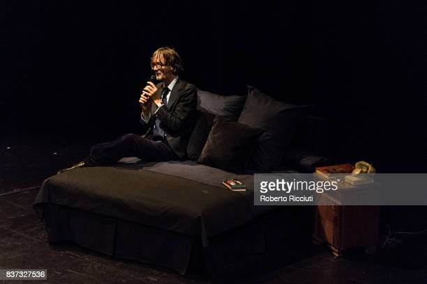 English musician Jarvis Cocker performs 'Room 29' on stage at King's Theatre as part of the 70th Edinburgh International Festival on August 22, 2017...