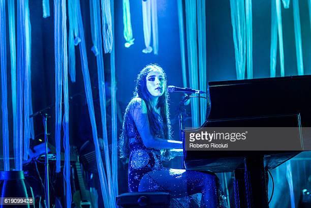 English musician Jasmine Lucilla Elizabeth Jennifer van den Bogaerde aka Birdy performs on stage at The Corn Exchange on October 29 2016 in Edinburgh...