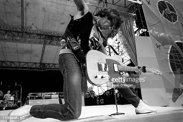 English musician Keith Richards of the Rolling Stones live in concert 1982