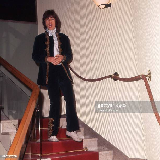 English musician Mick Jagger is Rome with his band 'The Rolling Stones' for the band's first performances in Italy 1967