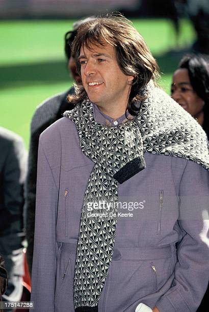 English musician Peter Gabriel attends backstage a concert held at Wembley Stadium to celebrate the release of African National Congress leader...