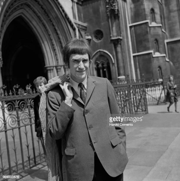 English musician Ray Davies of rock band The Kinks outside the Royal Courts of Justice London UK 28th May 1967
