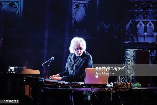 English musician Richard Barbieri performing live on stage at Union Chapel in London on April 24 2018