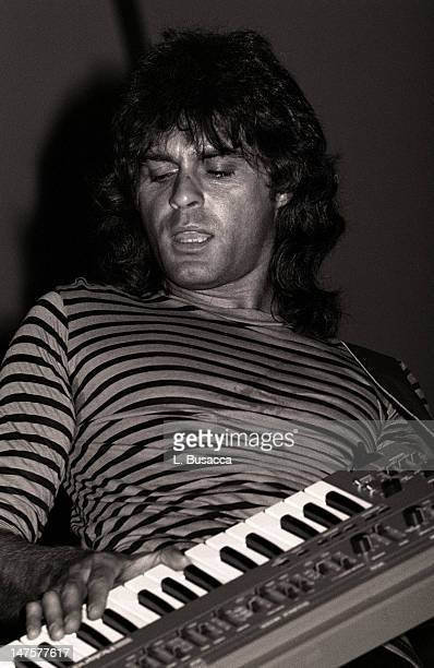 English musician Richard Wright of the group Pink Floyd performs in concert New York New York circa 1984