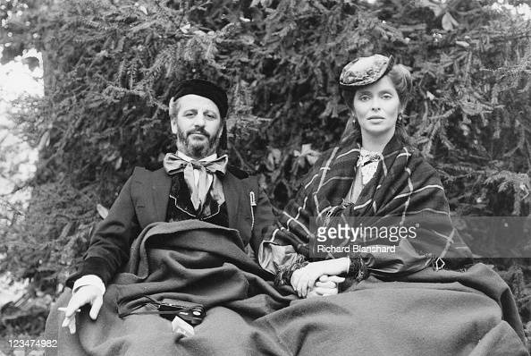 English musician Ringo Starr and his wife, American ...