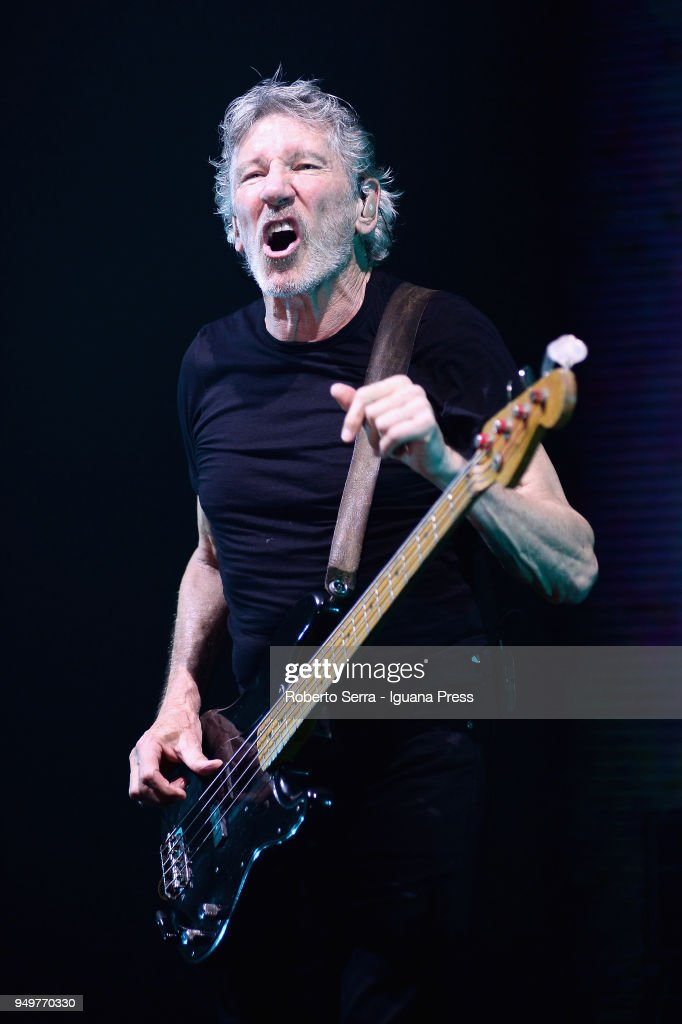 English musician Roger Waters ex member of the Pink Floyd band performs on stage on April 21, 2018 in Bologna, Italy.