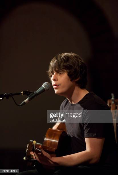 English musician singer and songwriter Jake Bugg performs live during a concert at the Passionskirche on November 1 2017 in Berlin Germany