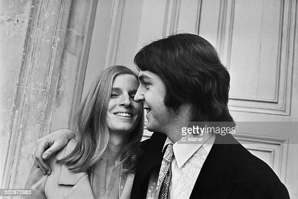 English Musician Singer And Songwriter Paul McCartney Marries American Photographer Linda Eastman At Marylebone